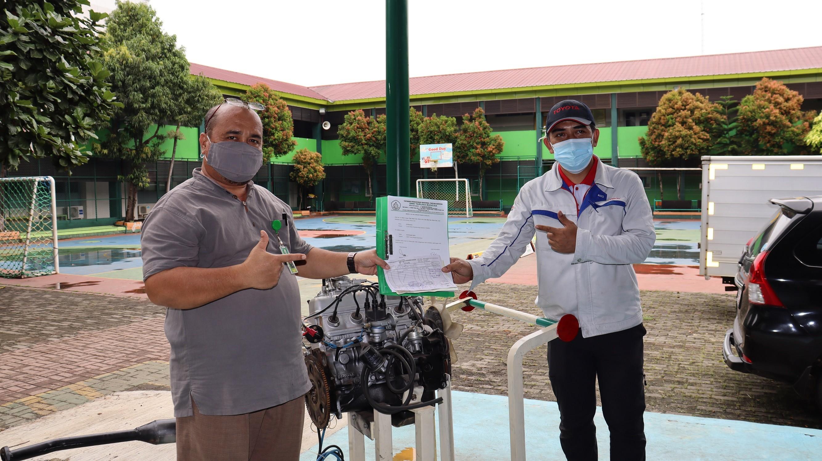 PENERIMAAN MESIN DARI TOYOTA MOTOR MANUFACTURING INDONESIA